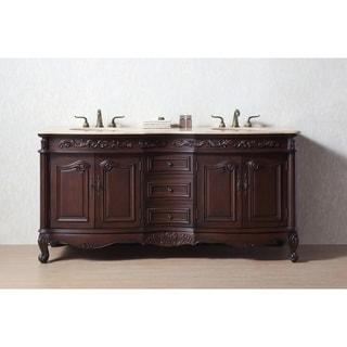 Stufurhome 72 Inch Saturn Double Sink Bathroom Vanity (Option: Cherry  Finish)