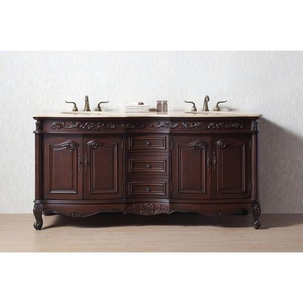 Stufurhome 72 Inch Saturn Double Sink Bathroom Vanity