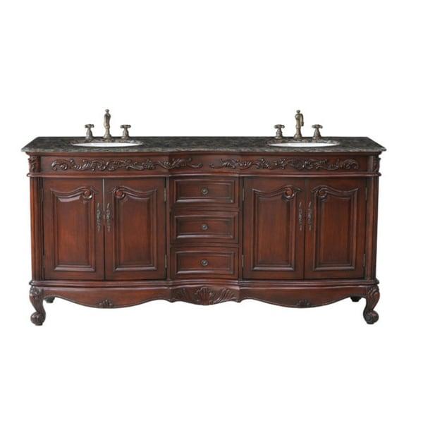 Stufurhome saturn 72 inch double sink vanity free for Overstock com vanities