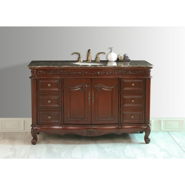 Stufurhome 56 Inch Princeton Single Sink Bathroom Vanity