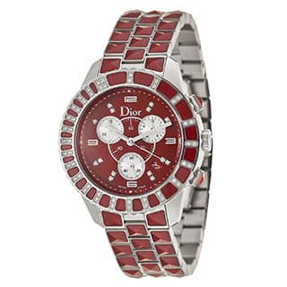 Christian Dior Christal Red Chronograph Women's Watch|https://ak1.ostkcdn.com/images/products/4603542/P12534680.jpg?impolicy=medium