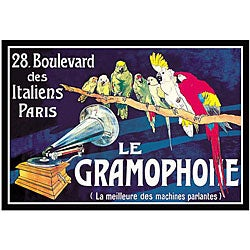Bombled 'Le Gramophone' Framed Art Print