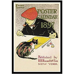 Edward Penfield '1899 Poster Calendar' Framed Art Print