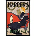 'Christmas with a Book' Framed Art Print