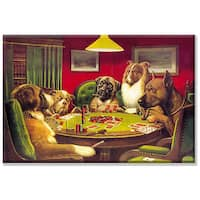 C.M. Coolidge 'Dog Poker' 24x36-inch Gallery-wrapped Canvas Art