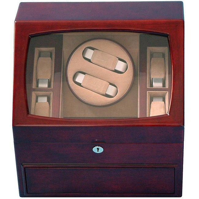 Rocket Mahogany Double Watch Winder - Thumbnail 0