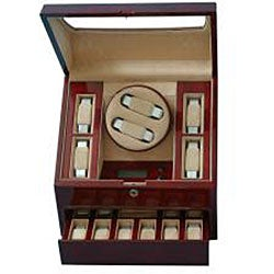 Rocket Mahogany Double Watch Winder - Thumbnail 1