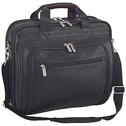 Italy Executive Black Leather Portfolio Laptop Cases (Pack of 6)