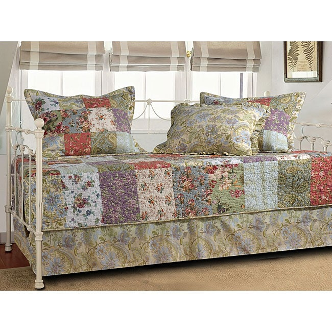 Greenland Trading Blooming Prairie 5-piece Daybed Bedding...