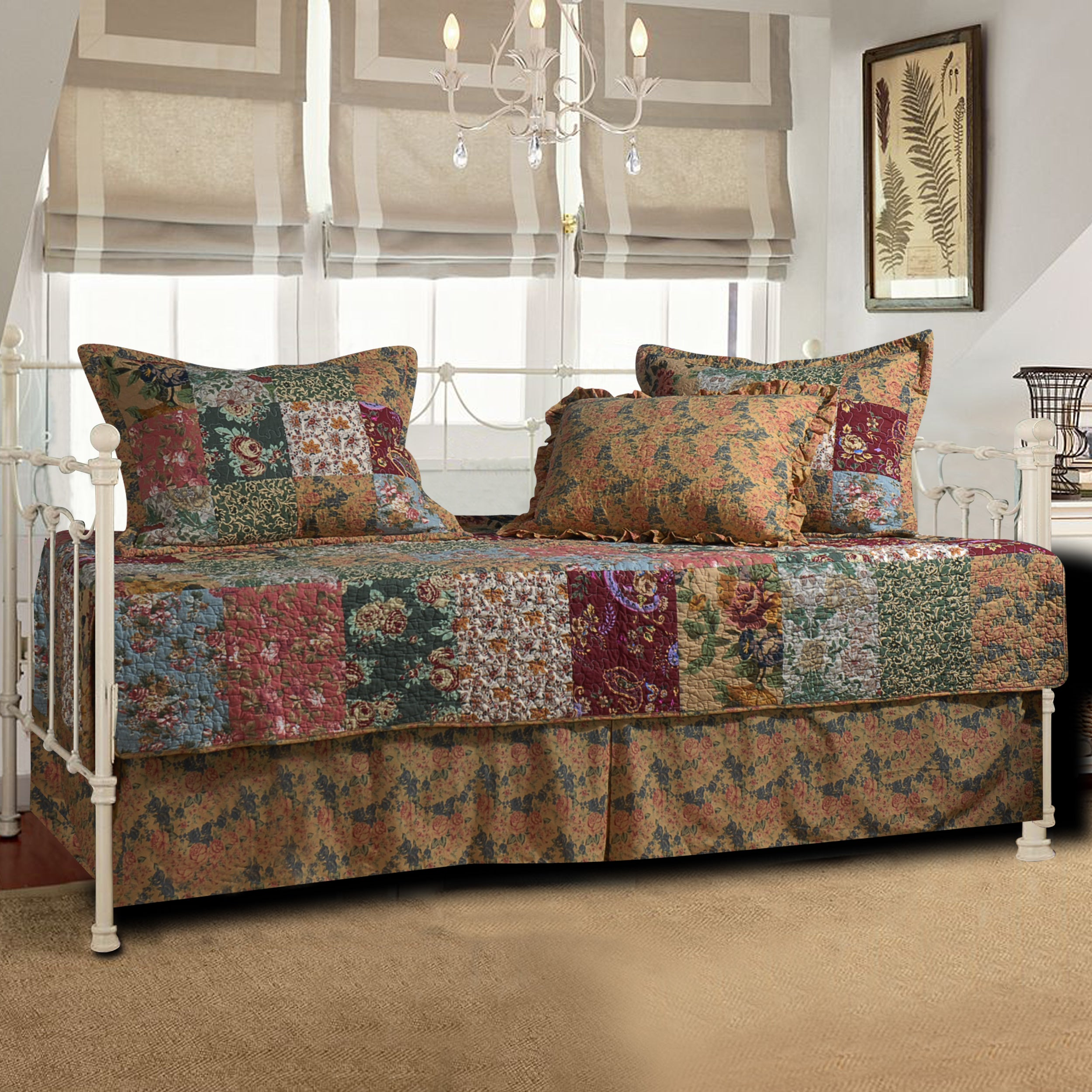Greenland Trading Antique Chic 5-piece Daybed Set, Brown ...