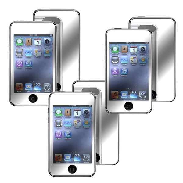 INSTEN 3-piece Mirror LCD Screen Protector Kit for Apple iPod Touch