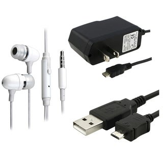 INSTEN White Headset/ Cable/ Travel Charger for Palm Treo Pro 850