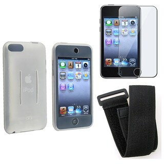 INSTEN Clear Soft Silicone Skin + Film + Armband for iPod Touch 3rd gen