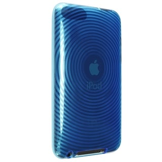 INSTEN Clear Blue TPU Rubber Skin iPod Case Cover for iPod Touch Gen 2/ 3