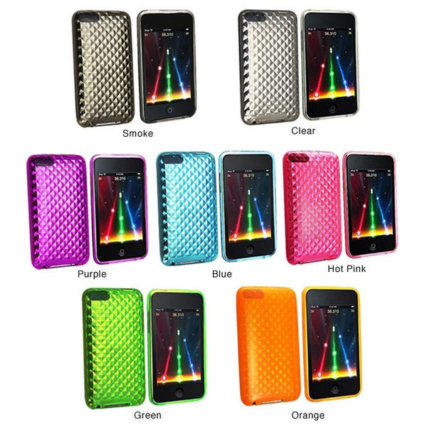 INSTEN Clear Diamond TPU Rubber iPod Case Cover for iPod Touch Gen 2/ 3