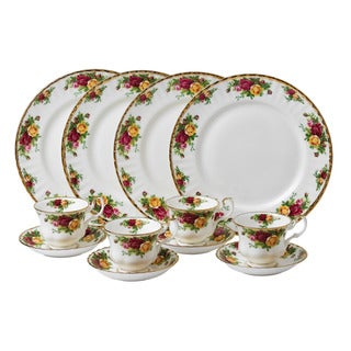 Link to Royal Albert 'Old Country Roses' 12-piece Dinnerware Set Similar Items in Serveware
