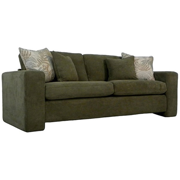 Handy Living Angelo Basil Sage Green Dimples Sofa Free Shipping Today 4606937