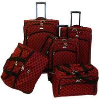 f32f63011 Shop American Flyer Budapest Metallic Blue 5-piece Spinner Luggage ...