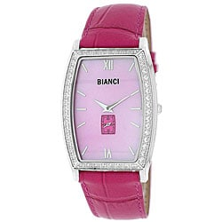 Roberto Bianci Women's Cubic Zirconia/ Mother of Pearl Dial Watch