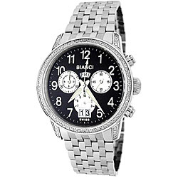 Roberto Bianci Men's Stainless Steel Band Diamond Chronograph Watch