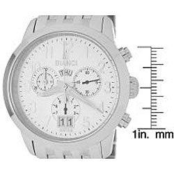 Roberto Bianci Men's 'Eleganza' Chronograph White Dial Watch