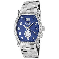 Roberto Bianci Men's Silver and Diamond Watch