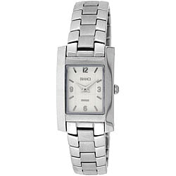 Roberto Bianci Women's Stainless Steel Rectangular Case Watch