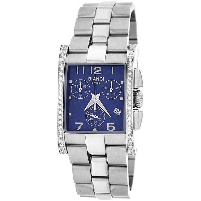 Roberto Bianci Unisex Diamond Chronograph Watch with Blue Dial