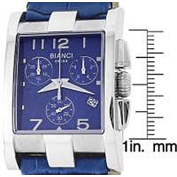Roberto Bianci Unisex Diamond Chronograph Watch with Blue Dial - Thumbnail 1