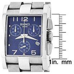 Roberto Bianci Men's Swiss Chronograph Watch with Blue Dial - Thumbnail 1