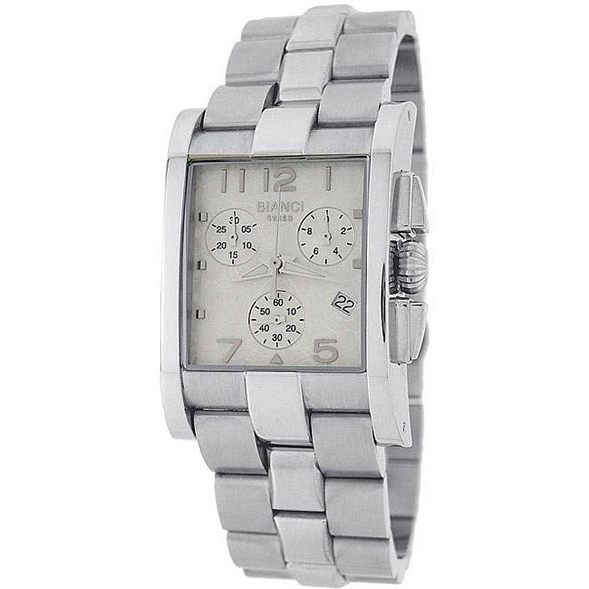 Roberto Bianci Men's Swiss Chronograph Watch with White Dial