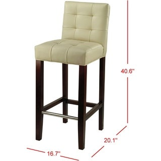 Safavieh Noho Ivory 30-inch Bar Stool