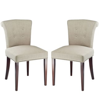 Safavieh En Vogue Dining Parker Sand Side Chairs (Set of 2)