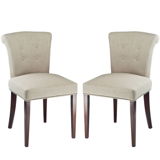 Safavieh En Vogue Dining Parker Sand Side Chairs (Set of 2)