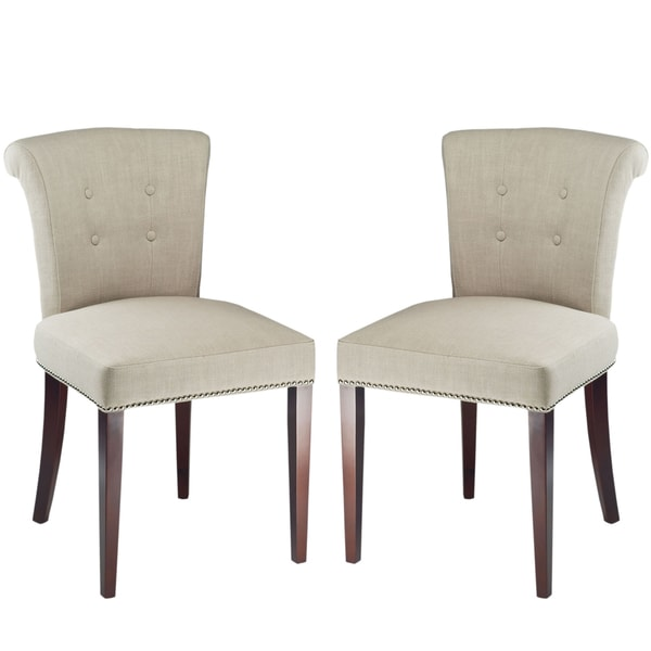 Safavieh En Vogue Dining Parker Sand Dining Chairs (Set of 2)