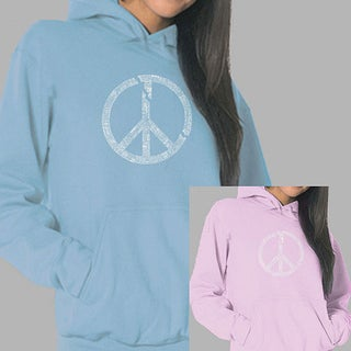 Los Angeles Pop Art Women's Broken Peace Hoodie (Option: S)