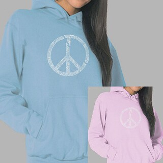 Los Angeles Pop Art Women's Broken Peace Hoodie (More options available)