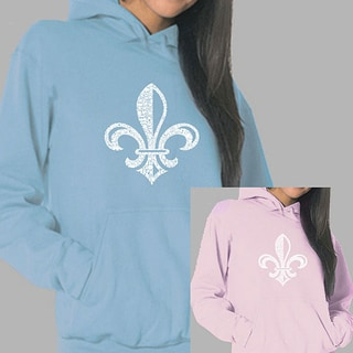 Los Angeles Pop Art Women's Fleur de Lis Hoodie (Option: S)