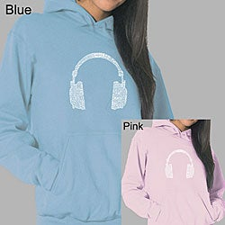Los Angeles Pop Art Women's Headphones Hoodie (Option: S)