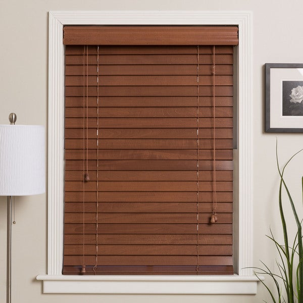 Arlo Blinds Customized Real Wood 42-inch Window Blinds