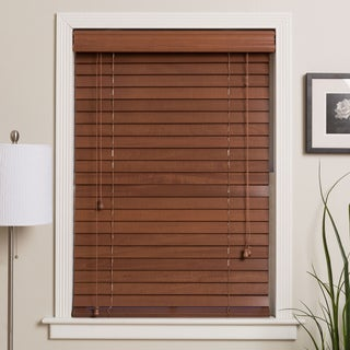 Customized Real Wood 71-inch Window Blinds