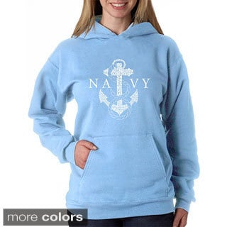 Los Angeles Pop Art Women's Navy Hoodie