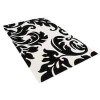 Alliyah Handmade Off-White New Zealand Blend Wool Rug Wool Rug - 6' x 6'