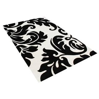 Alliyah Handmade Off-White New Zealand Blend Wool Rug Wool Rug (6' Square) - 6'