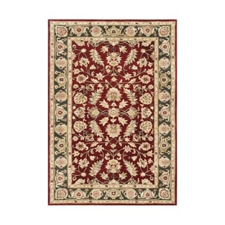 Alliyah Handmade  RedNew Zealand Blend Wool Rug (8' x 10')