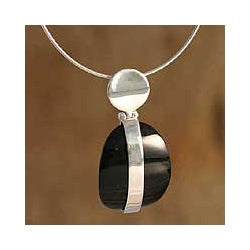 Silver Obsidian 'Sublime' Choker (Peru)