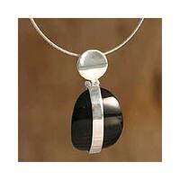 Handmade Silver Obsidian 'Sublime' Choker (Peru)