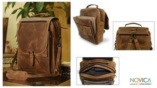 Handmade Leather 'Free Spirit' Messenger Bag (Mexico)