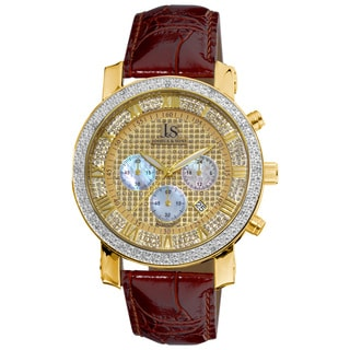 diamond men s watches shop the best deals for 2017 joshua sons men s diamond chronograph strap watch