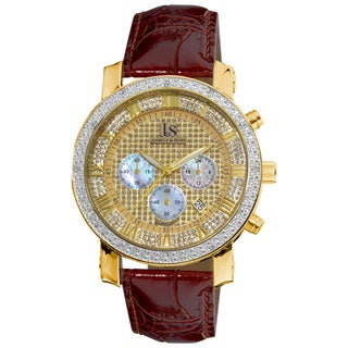 Joshua & Sons Men's Diamond Chronograph Strap Watch